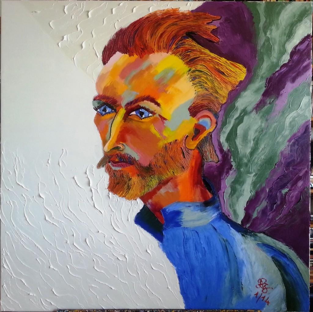 Vincent van Gogh portrait by Preciada Azancot
